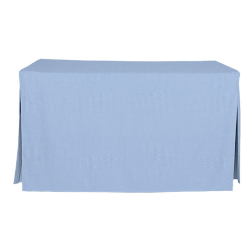 5-Foot Fitted Table Cover - Blue Chambray