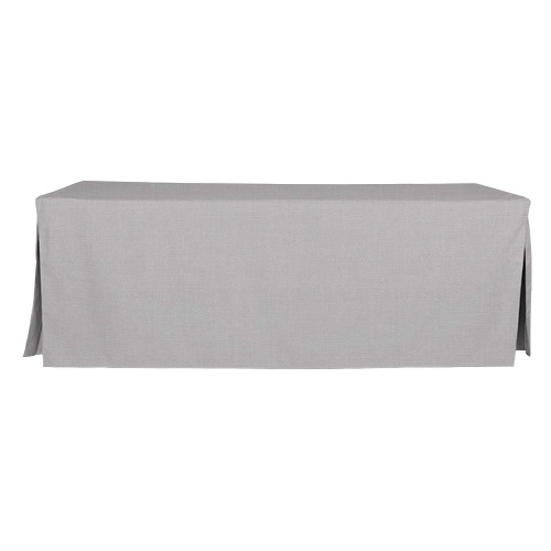 8-Foot Fitted Table Cover - Black Chambray