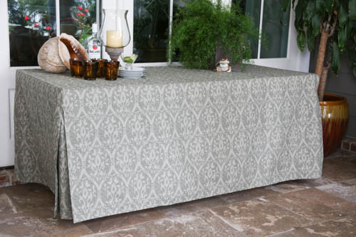 6-Foot Fitted Table Cover - Damask Sage