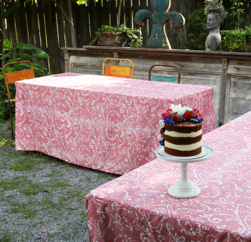 6-Foot Fitted Table Cover - Bali Washed Red
