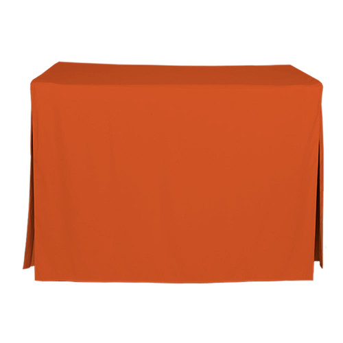 4-Foot Fitted Table Cover - Orange