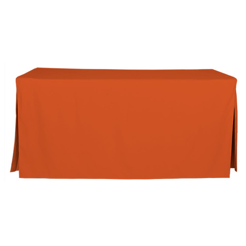 "Tablevogue is a fitted table cover or custom-sized table cloth. This fitted table cloth is a solid Charcoal table cloth, or as we call it table cover, is designed to fit a standard 6-foot folding table. Great of you tailgate for Clemson, Tennessee, Cleveland and more!  Made from 100% woven polyester 300 thread count fabric. Stitched edges create a custom look while to-the-floor coverage neatly disguises table legs. This table cloth cover makes outdoor entertaining and buffet style service a breeze!  Our custom fitted table cloth can be screen printed or embroidered to match your brand.  Dimensions: 29"" high x 30"" wide x 72"" long, fits a standard 6-foot folding table.  Care Instructions: 100% Polyester, Machine wash warm, tumble dry low. Patented Soil-Release Feature allows laundering at 120 degree water temp (as opposed to 160 degrees) - reducing rejects, providing a longer shelf life, conserving energy, and saving money.   More Info: Tablevogue offers a variety of table cloths including a card table covers, round table covers, banquet table covers, square table covers and rectangle table covers. Tablevogue fitted table covers are made to fit standard folding tables."