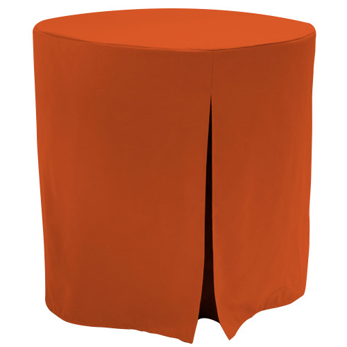 "Re-dis""COVER"" a favorite..transform your decorator/accent table into a modern sensation!  This 30-inch fitted decorator table cover is a custom-sized table cover in a fashionable signature solid. The decorator table cover is made from 100% woven polyester and premium thread count fabric. The stitched edges create a custom look while to-the-floor coverage neatly disguised table legs.      The 30"" decorator table cover is the most precise table cloth design, specially made for the popular decorator table. It's great for showcasing in the bedroom, living room, second home, rental properties, guest home, first home, apartment or at the office. The genius design of decorator table cover allows for the pleats to be used front to back or side to side. Featuring washable, premium fabric that can be reused over and over again. Tablevogue decorator table covers offer the luxury of choosing between a modern, clean fit or an embellished, unique look when you add tassels, ribbon, toppers or more.      The 30"" decorator table cover is a great, all-purpose, multi-functional table cloth size. Decorator tables make for great corner tables, food and drink stations at parties and events, night desks and so much more. It's one of the most popular table sizes used for a variety of events and features an ergonomic design. Many decorator tables might be old and shabby - give your trusty decorator new life with the Tablevogue's 30"" decorator table cloth, specially designed to hide the old table underneath, turning it into a chic, stylish addition to your home or event decor.      Dimensions: 30"" diameter x 30"" high, fits a standard 30-inch decorator table.   Care Instructions: 100% Polyester, Machine wash warm, No or low tumble dry"