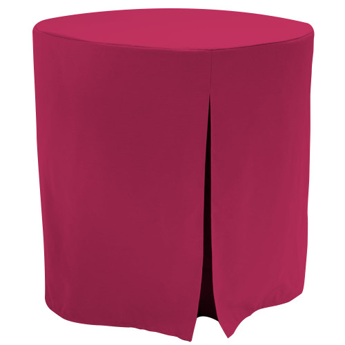 "Re-dis""COVER"" a favorite..transform your accent/decorator table into a modern sensation!  This 30-inch fitted decorator/accent table cover is a custom-sized table cloth, made with solid natural colored table cloth that's designed to fit a standard 30-inch decorator table. The hue matches cream, beige, eggshell, white and off white home or event decor perfectly. Because it is a stylish neutral color, it also fits right in with virtually any color it's put next to. The decorator table cloth is made from 100% woven polyester and 300 thread count fabric. The stitched edges create a custom look while to-the-floor coverage neatly disguised table legs.   The 30"" decorator or accent able cover is the most precise table cloth design, specially made for the popular decorator table. It's great for showcasing in the bedroom, living room, second home, rental properties, guest home, first home, apartment or at the office. The genius design of decorator table cover allows for the pleats to be used front to back or side to side. Featuring washable, premium fabric that can be reused over and over again. Tablevogue decorator table covers offer the luxury of choosing between a modern, clean fit or an embellished, unique look when you add tassels, ribbon, toppers or more.   The 30"" decorator table cover is a great, all-purpose, multi-functional table cloth size. Decorator/accent tables make for great corner tables, food and drink stations at parties and events, night desks and so much more. It's one of the most popular table sizes used for a variety of events and features an ergonomic design. Many decorator tables might be old and shabby - give your trusty decorator/accent table new life with the Tablevogue's 30"" decorator table cloth, specially designed to hide the old table underneath, turning it into a chic, stylish addition to your home or event decor.   Stylish and durable, featuring premium quality fabric for a great price: Available in Natural color, 30""X30"" fitted decorator /accent table cover, just $37   Dimensions: 30"" diameter x 30"" high, fits a standard 30-inch decorator/accent table.  Care Instructions: 100% Polyester, Machine wash warm, tumble dry low. Patented Soil-Release Feature allows laundering at 120-degree water temp (as opposed to 160-degrees) - reducing rejects, providing a longer shelf life, conserving energy, and saving money"