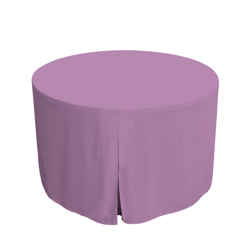 48-Inch Fitted Round Table Cover - Lilac
