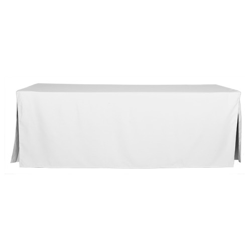 8-Foot Fitted Table Cover - White