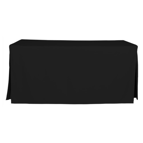 6-Foot Fitted Table Cover - Black
