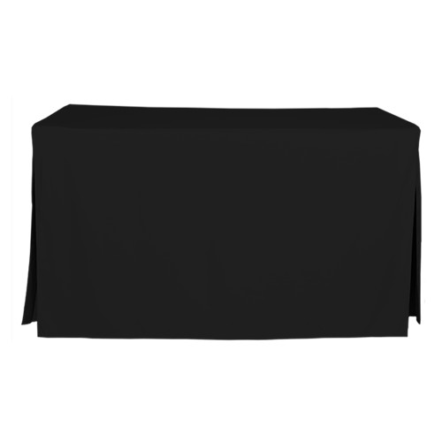 5-Foot Fitted Table Cover - Black