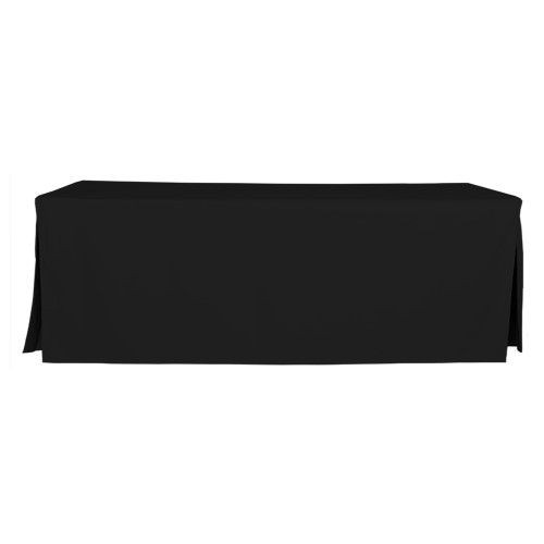 8-Foot Fitted Table Cover - Black
