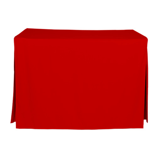 4-Foot Fitted Table Cover - Red