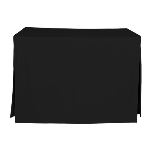 4-Foot Fitted Table Cover - Black