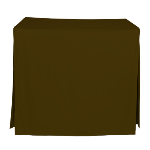 34-Inch Fitted Table Cover - Chocolate