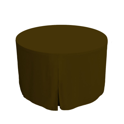 48-Inch Fitted Round Table Cover - Chocolate