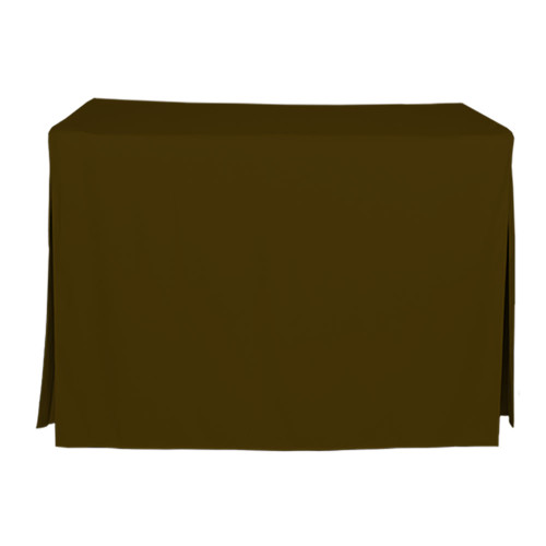 4-Foot Fitted Table Cover - Chocolate