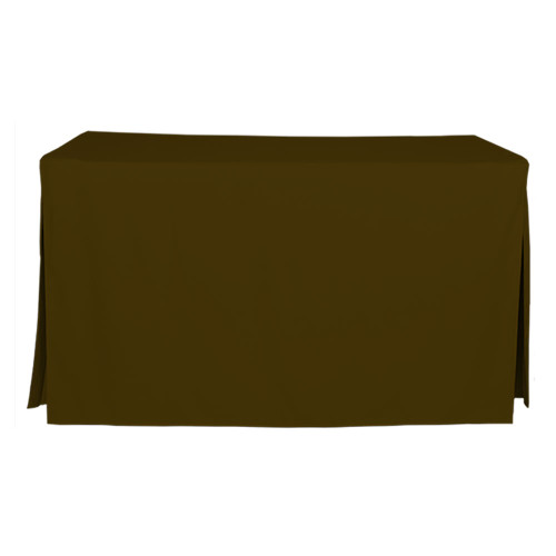5-Foot Fitted Table Cover - Chocolate