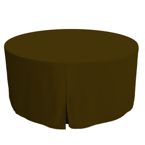 60-Inch Fitted Round Table Cover - Chocolate