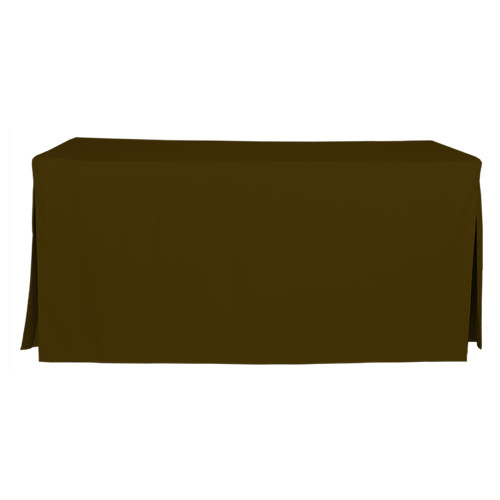6-Foot Fitted Table Cover - Chocolate