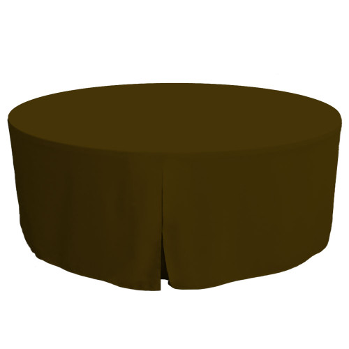 72-Inch Fitted Round Table Cover - Chocolate