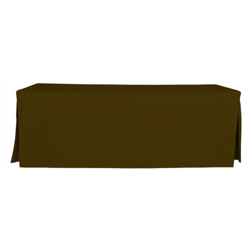 8-Foot Fitted Table Cover - Chocolate