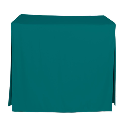 34-Inch Fitted Table Cover - Peacock