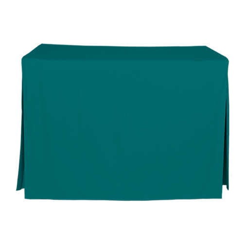 4-Foot Fitted Table Cover - Peacock