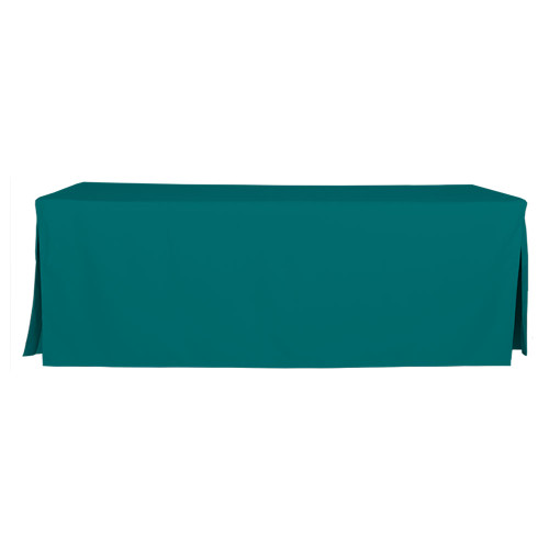 8-Foot Fitted Table Cover - Peacock