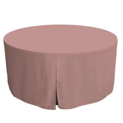 60-Inch Fitted Round Table Cover - Rose