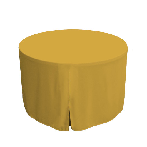 48-Inch Fitted Round Table Cover - Mimosa