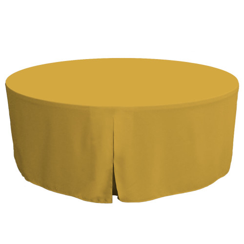 72-Inch Fitted Round Table Cover - Mimosa