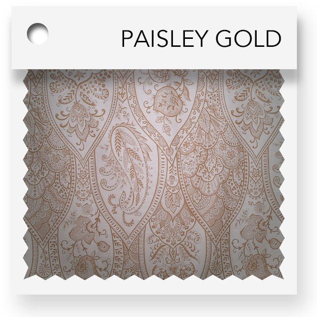 click here for paisley gold colored tablevogues
