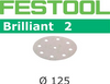 Festool Brilliant 2   125 Round   40 Grit   Pack of 10 (495989)