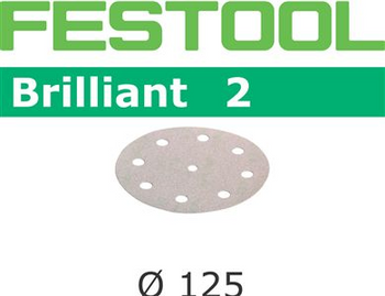 Festool Brilliant 2 | 125 Round | 40 Grit | Pack of 10 (495989)
