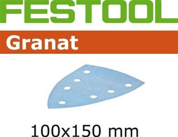 Festool Granat | 100 x 150 DTS 400 | 80 Grit | Pack of 10 (497132)