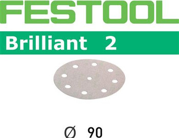 Festool Brilliant 2 | 90 Round | 100 Grit | Pack of 100 (497382)