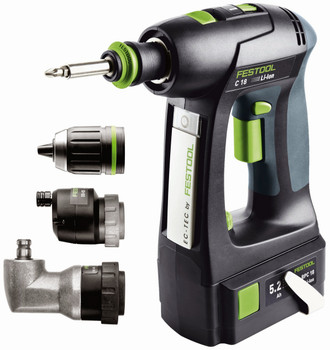Festool C18 Li 5.2 AIRSTREAM SET (574635)