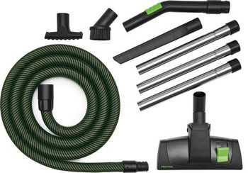 Festool Tradesperson / Installer Cleaning Set w/ Sleeved Hose (203408)