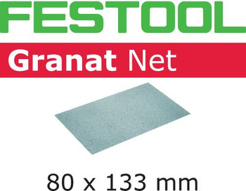 Festool Granat Net | 80 x 133 | 100 Grit | Pack of 50 (203286)