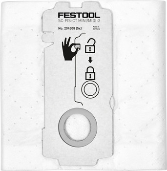 Festool Self-clean Filter Bag CT 15/MINI/MIDI x5 (204308)