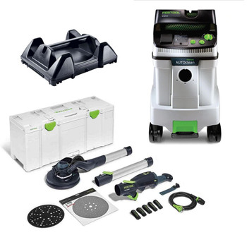 Festool Planex Drywall Sander LHS 2 225 EQI-Plus Kit (Includes Planex 2 and CT 48 AC HEPA)