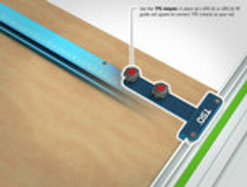 TSO GRS-16 PE Parallel Edge Guide Rail Square (61-230-R) With TSO TPG Guide Rail Adapter (61-390) & TSO TPG-30 Parallel Guide System Set (61-364)