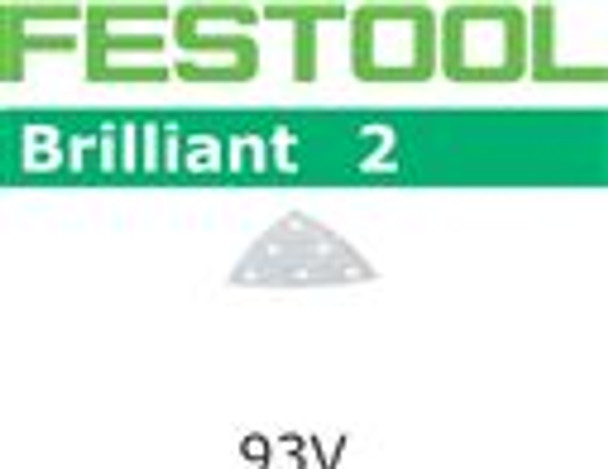 Festool Brilliant 2 | 93mm Delta | 120 Grit | Pack of 100 (492887)