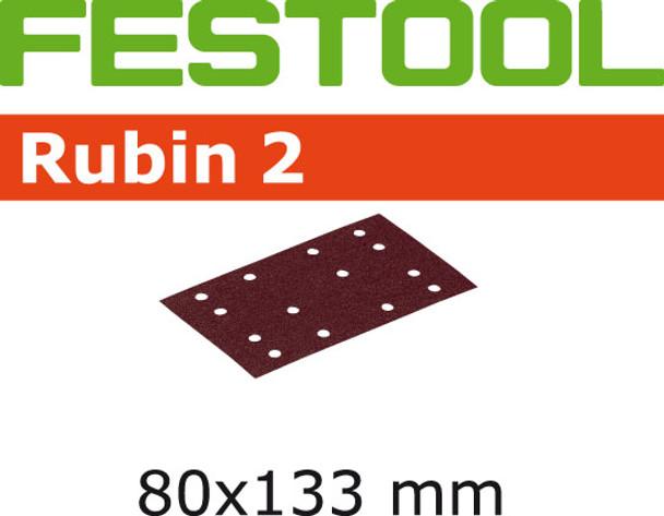 Festool Rubin 2   80 x 133   80 Grit   Pack of 50 (499048)
