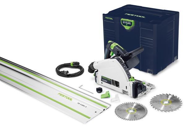 Festool Emerald Edition TS 55 REQ Plunge Cut Circular Saw w/ Guide Rail (576688)