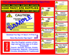 Caution, Lead Paint Hazard, with Symbols  - RRP Sign In 10 Languages - Downloadable Product. Never Order Signs Again - Order, Download, Save, and Print as Needed.