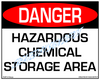 Danger, Hazardous Chemical Storage Area Sign - Downloadable Product. Never Order Signs Again - Order, Download, Save, and Print as Needed.