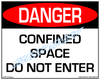 Danger, Confined Space - Do Not Enter Sign - Downloadable Product. Never Order Signs Again - Order, Download, Save, and Print as Needed.