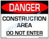 Danger, Construction Area, Do Not Enter Sign - Downloadable Product. Never Order Signs Again - Order, Download, Save, and Print as Needed.