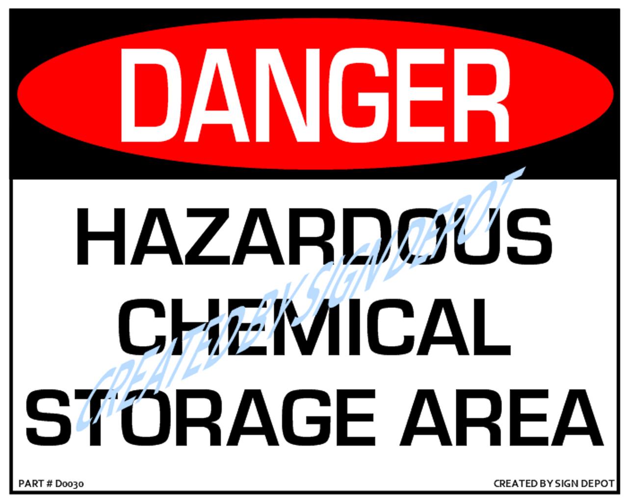 Danger, Hazardous Chemical Storage Area Sign, Download - 8
