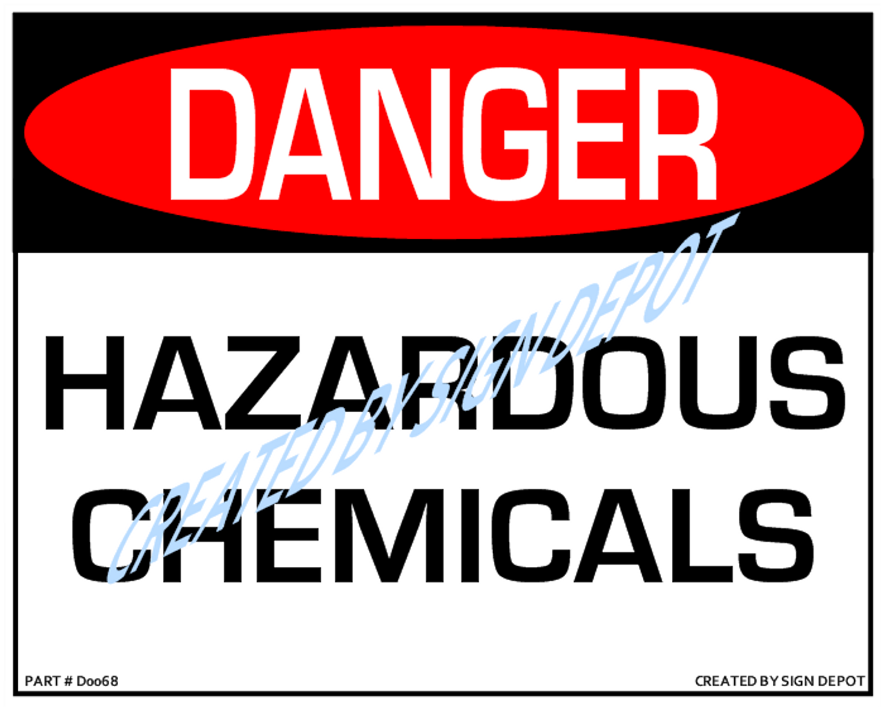 Danger, Hazardous Chemicals Sign, Download, 8