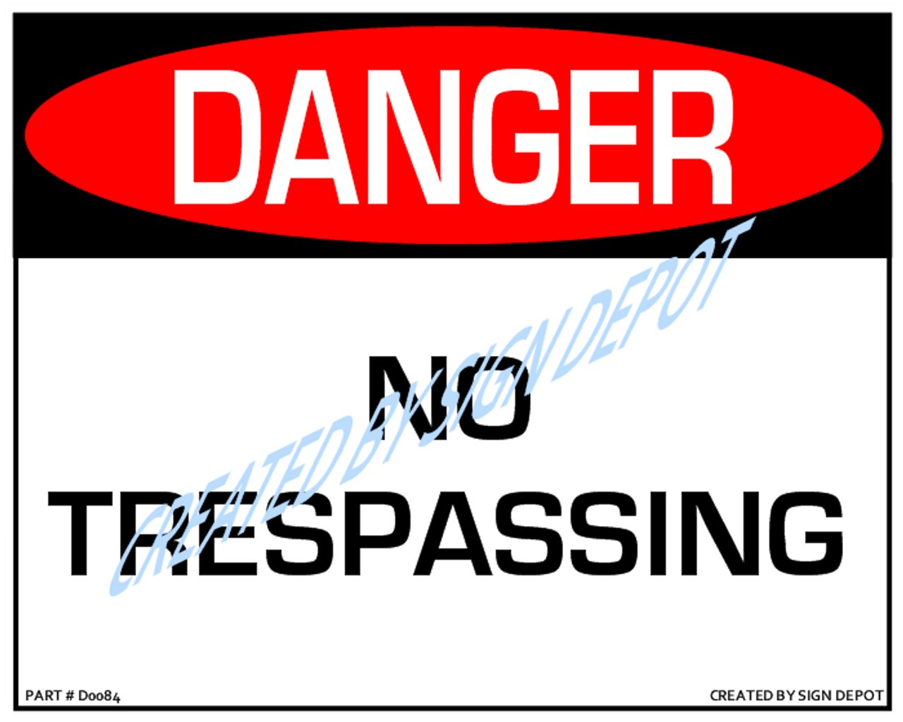 picture relating to Printable No Trespassing Sign known as Risk, No Tresping Indication, Down load-8\